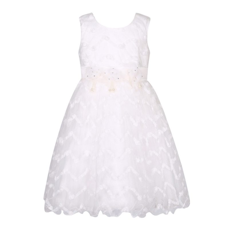Sweet Princess Dress with Flower Accent