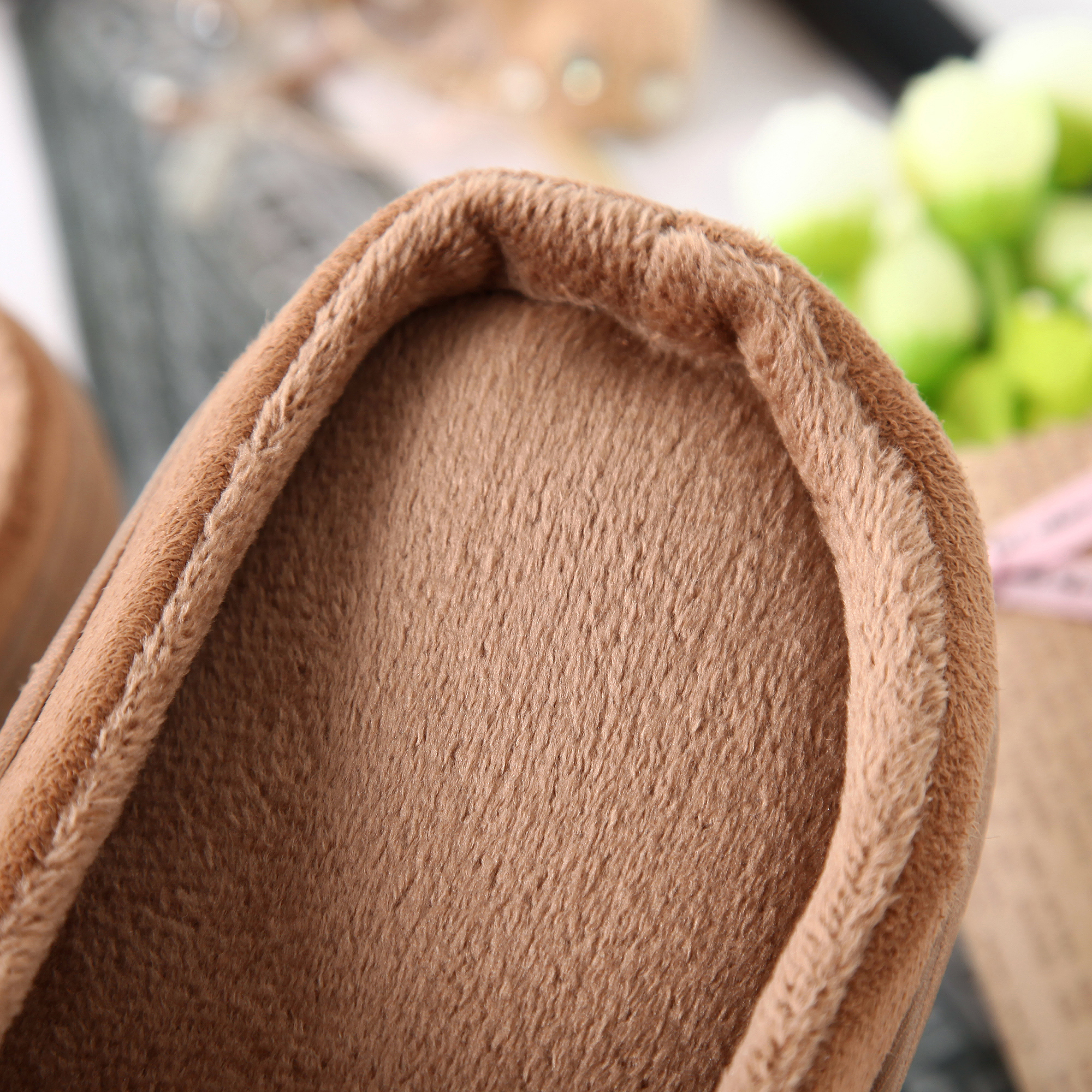 Suede With Short Plush lining House Slippers