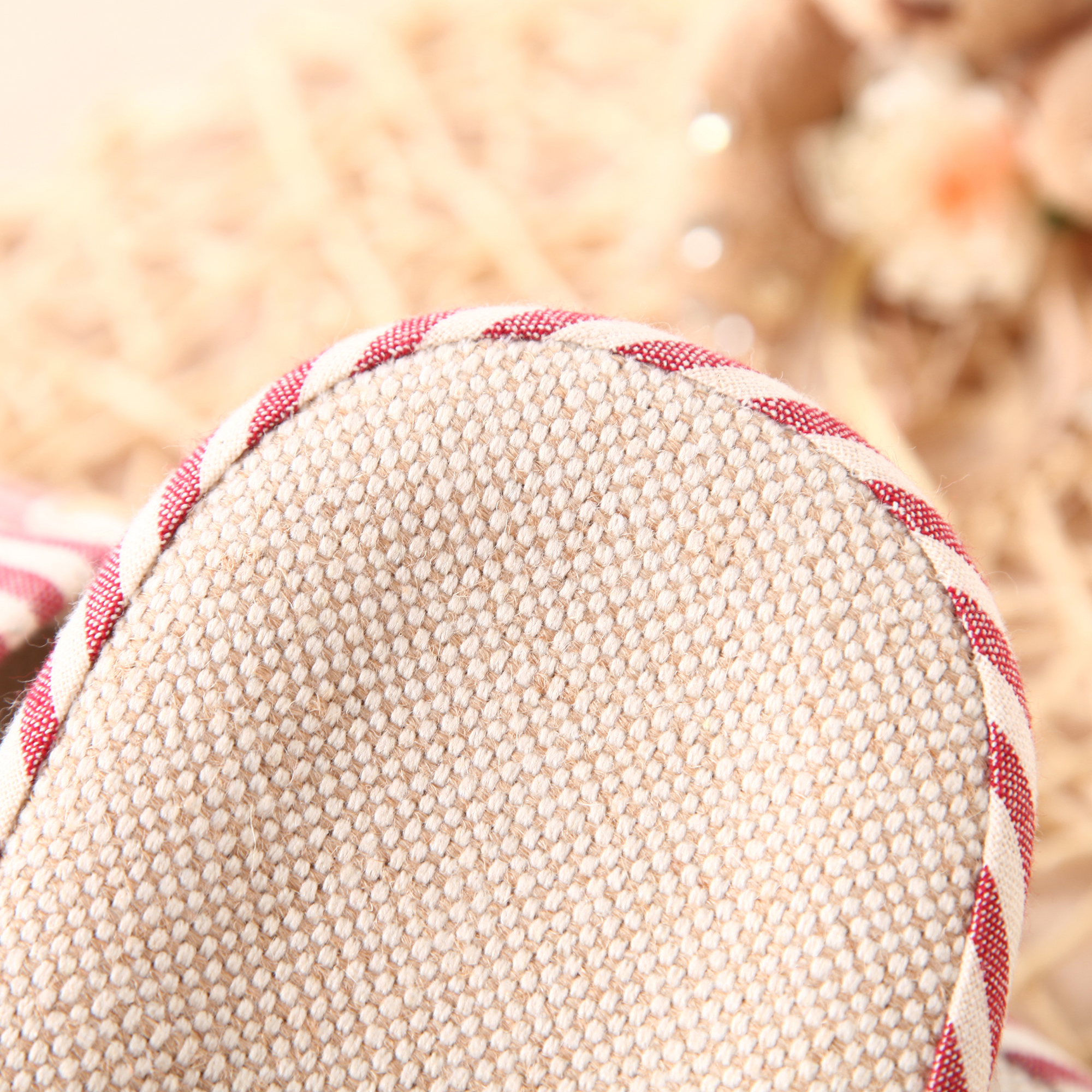 Non-slip Stripe Cotton Linen Slippers