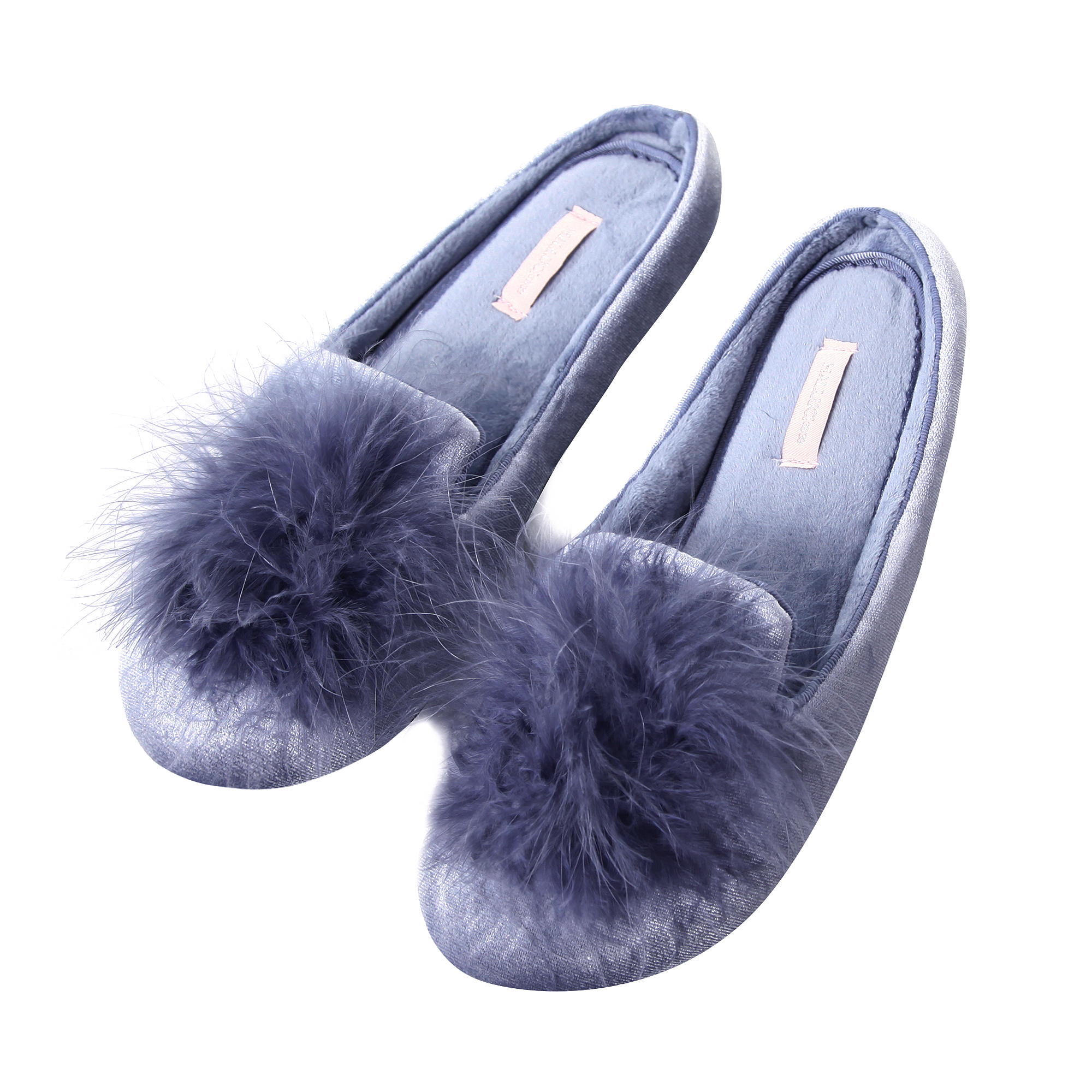 Light Curly Spirals House Slippers