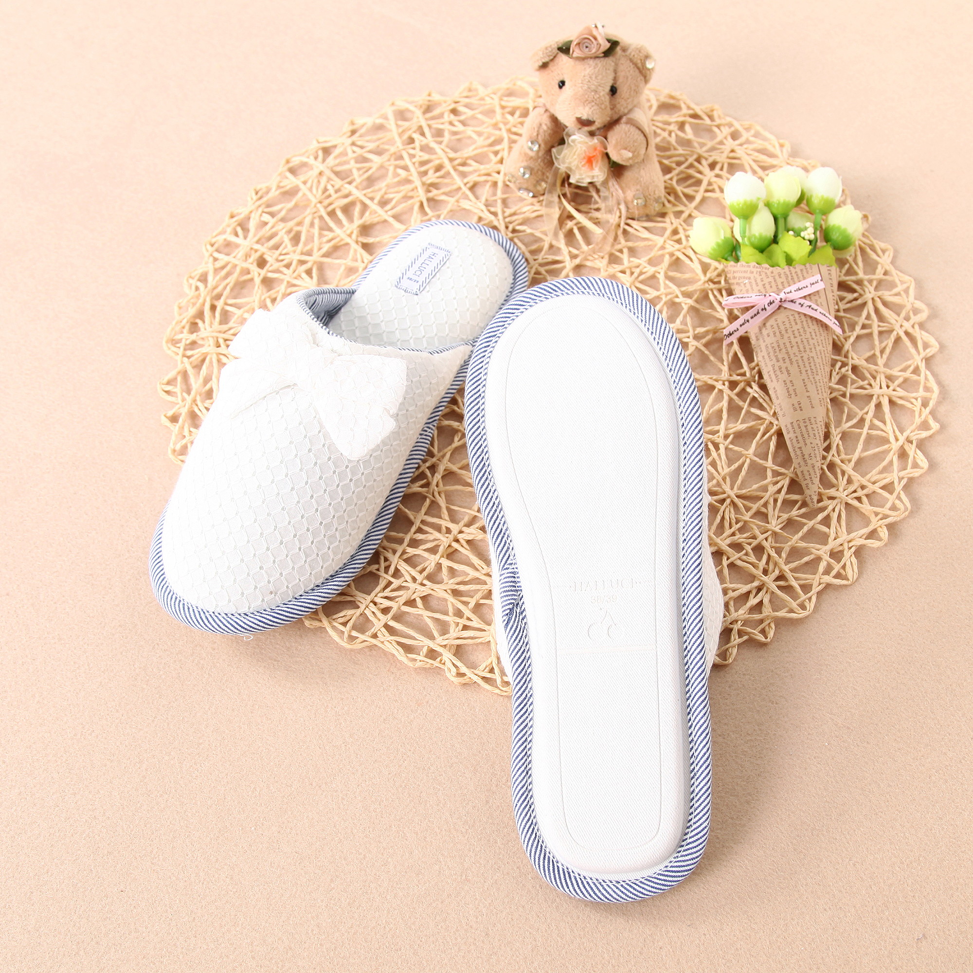 New Design Jacquard House Slippers