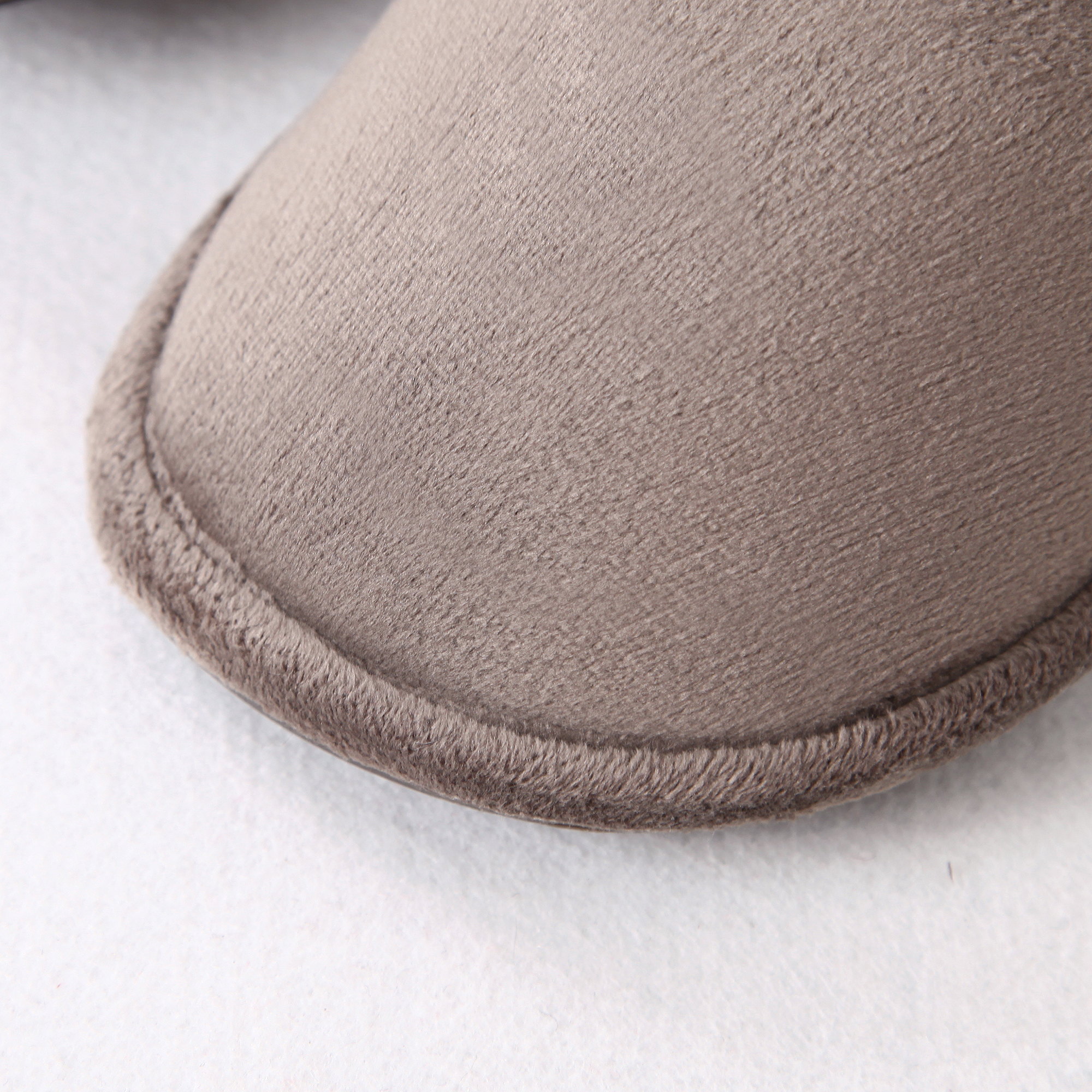 Suede House Slippers With Fur lining