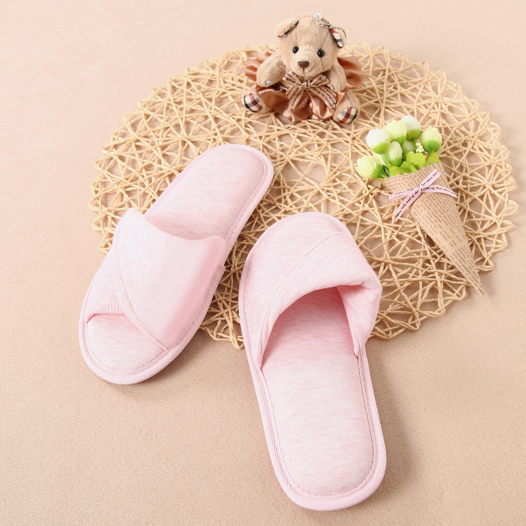 Open Toe Memory Foam Slide Slippers