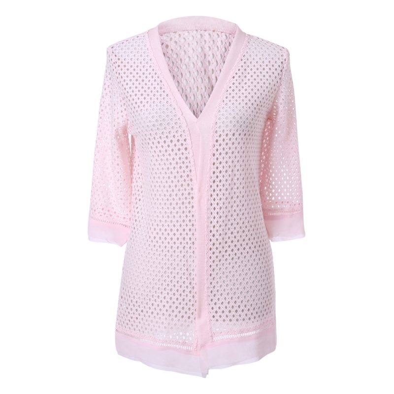 Medium Cardigan with Chiffon Vest Uni Size for S-M