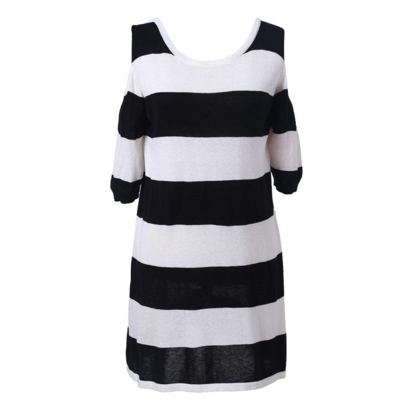 Medium Striped Knit Dress Uni Size for S