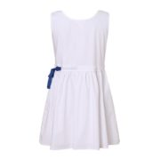 White Cotton Dress with Adjustable Waist