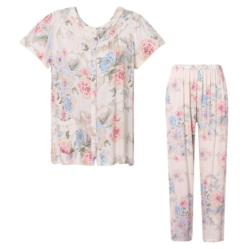 Flower Two-piece Pajama Sleepwear