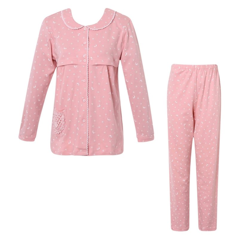 Cotton Two-piece Pajama Sleepwear Set