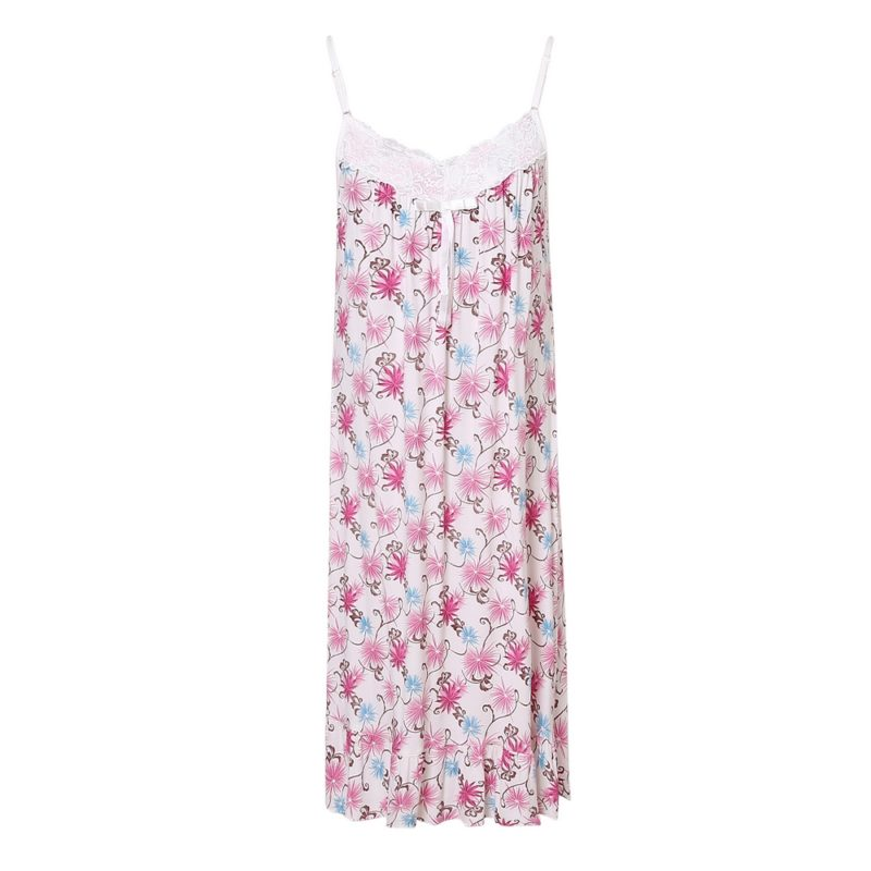 Summer Slip Dress Pajama Sleepwear Uni Size for S-M