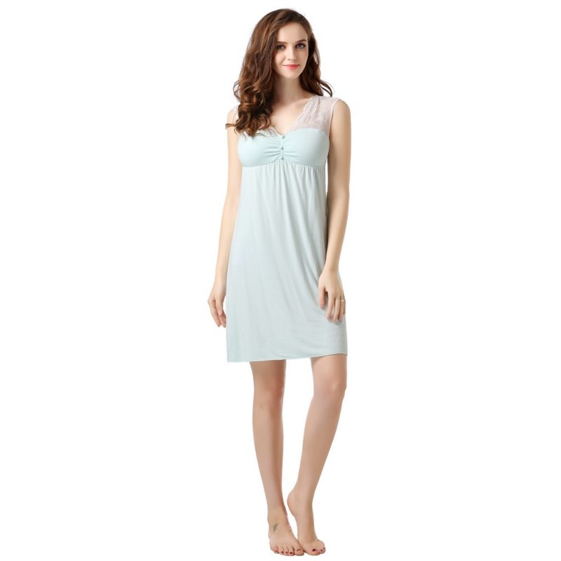 Summer Knit Dress Pajama Sleepwear