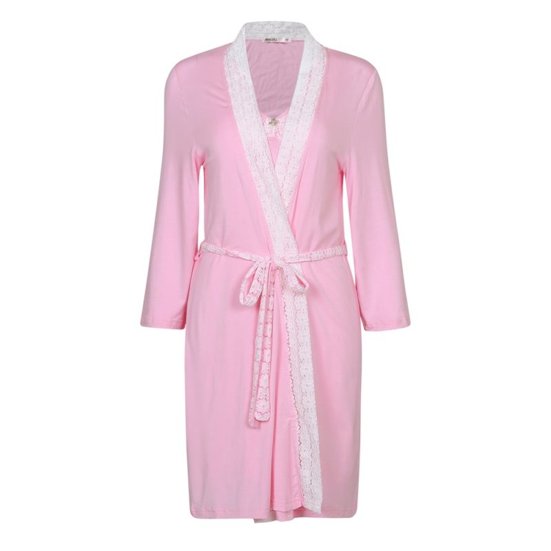 Two-piece Knit Bathrobe Robe