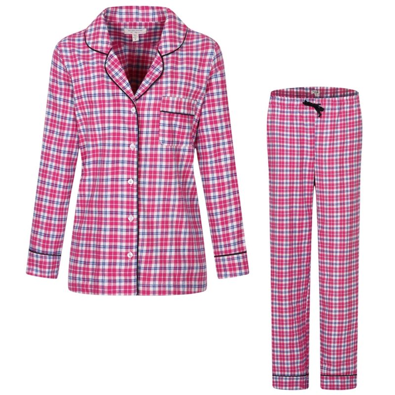 Two-piece Plaid Pajama Sleepwear Set
