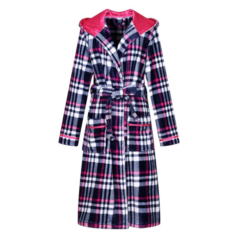 Plaid Fleece Bathrobe Robe