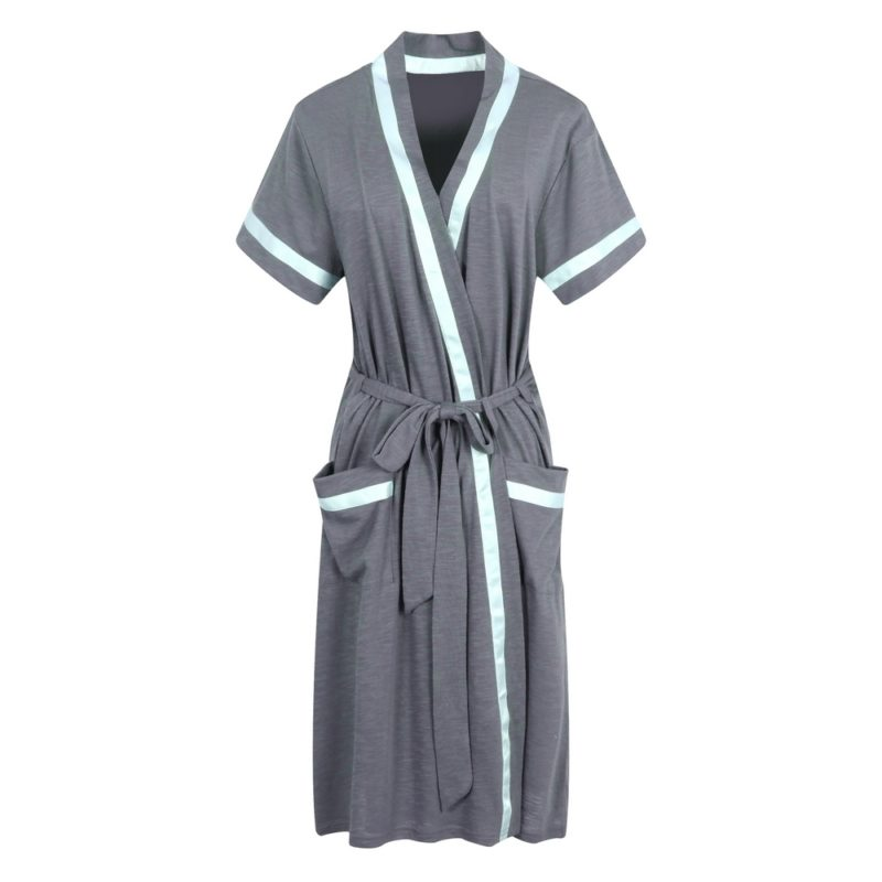 Short Sleeve Cotton Bathrobe Robe